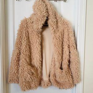 Love Tree Cozy Pink Faux Fur Jacket